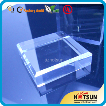 Customized clear solid acrylic display cube