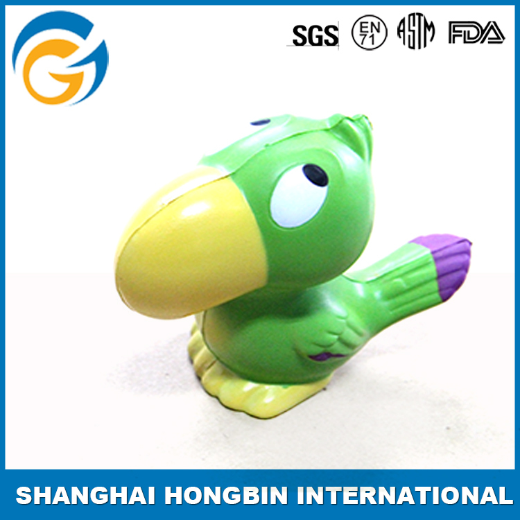 Funny Chinese Bird Shaped Anti Stress Toys Pu Ball