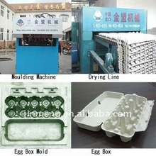 paper pulp moulding egg tray egg carton making machine production line