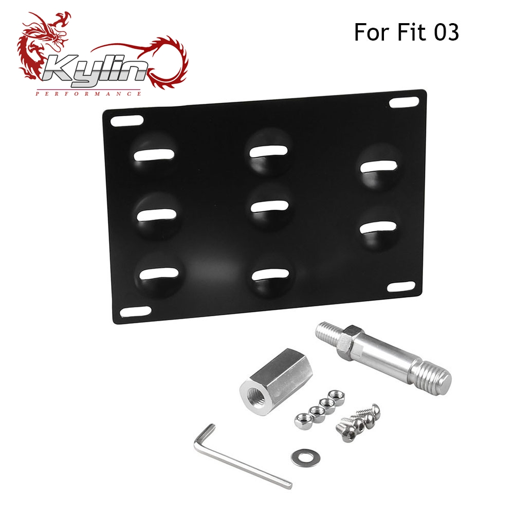 Kylin Racing Number Plate Holder Tow Hook Mounting Bracket Car Number License Plate Frame For H Auto Fit 03