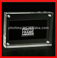 JPF--102 Luxury Crystal Clear Picture Frame.Lucite Acrylic Photo Frame,Rectangle Clear Picture Display Clear Cube Photo Holder