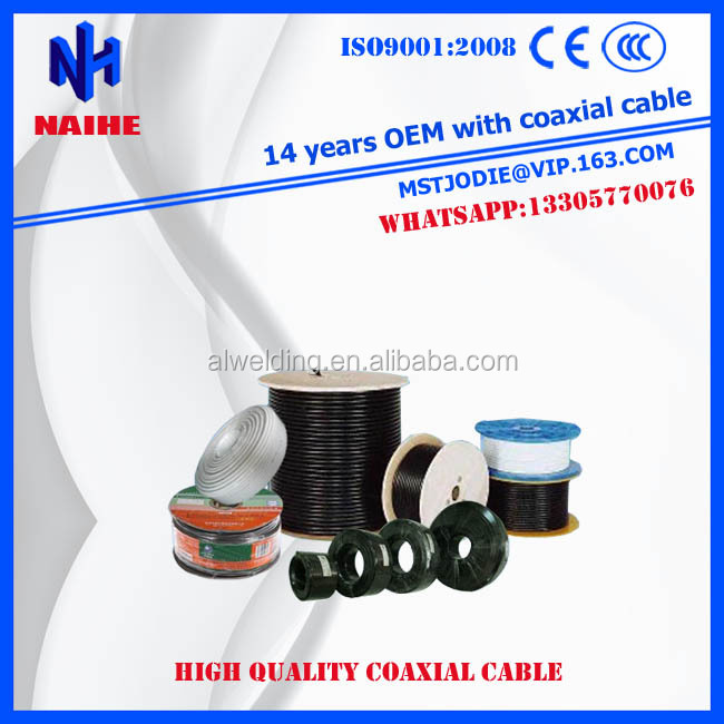 best price BLACK / WHITE PVC colored rg6 coax cable