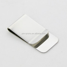 Customized logo blank stsainless steel cheap money clip