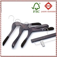 DL0911 High quality elegant custom branded vintage clothes hanger