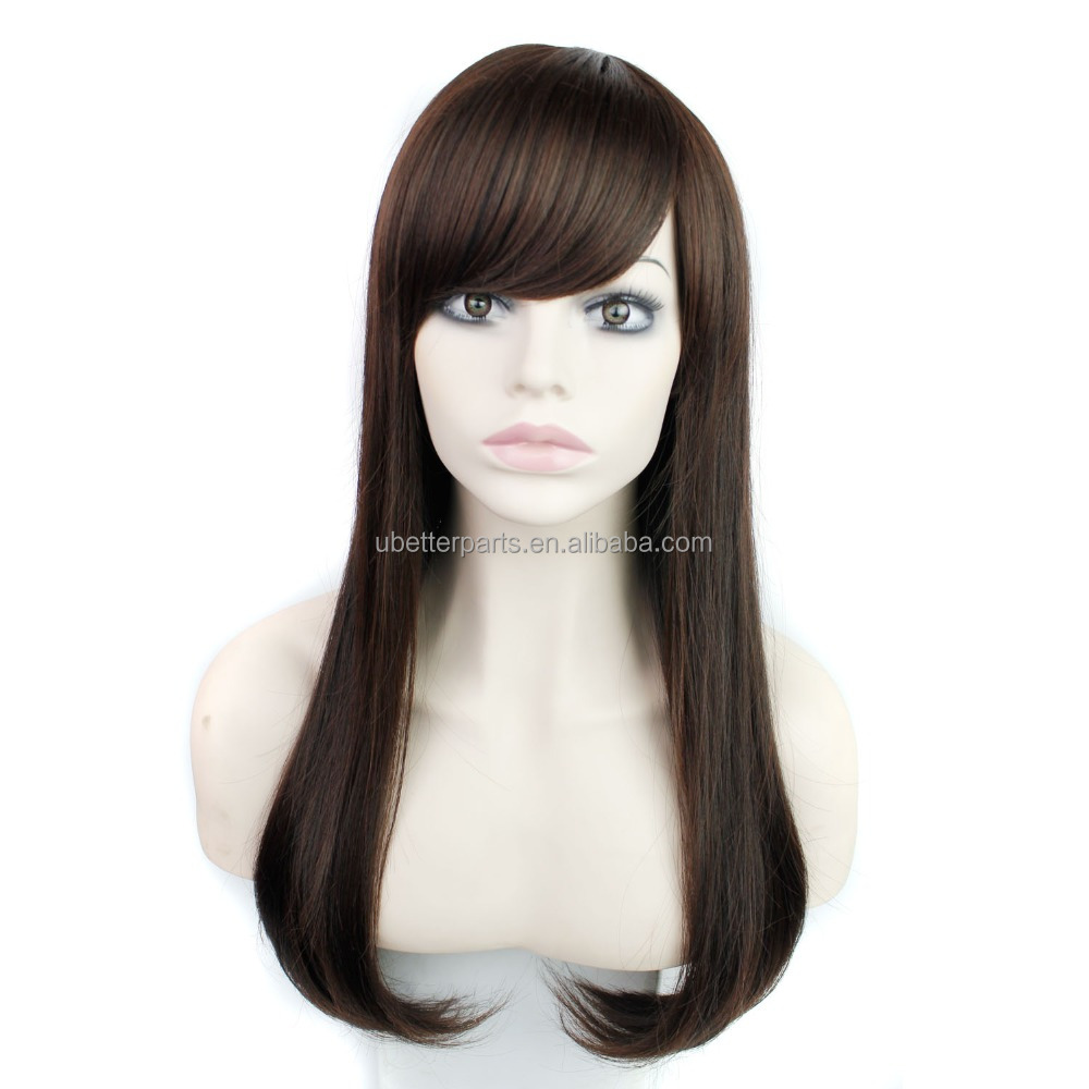 "28"" Synthetic Cosplay Wig Female Hairstyle Long Curly Wavy Black Hair Wigs African American Wig"
