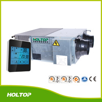 Mechanical bypass fresh air heat recovery ventilation fan