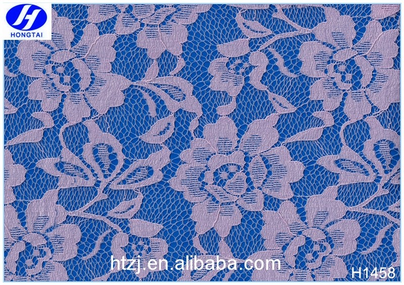 Hongtai elastic fashion spanish lace fabric for dress