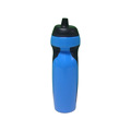 Customized PE plastic water bottle with drinking straw