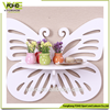 fashion fireproof shelf rack, good quality carved butterfly style plastic wall shelf