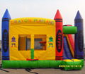 Hot inflatable inflatable bouncy slide/bounce house for party use