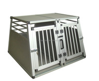 Safety Alu Pet Cage with round bars and double doors