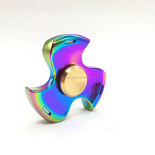 Customized logo toys unique metal fidget spinner with Rainbow Colorful EDC for kids/adults