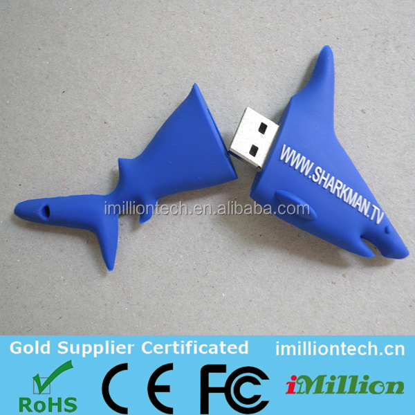 Funny OEM Custom Sea Animal USB Pen Drives 16GB for Promotioanl Gifts