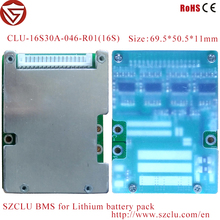 Shenzhen CLU pcb assembly 16S PCM/BMS with balance battery management system for e-bike