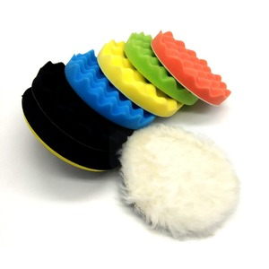 Wool buffing polishing pad 5inch colorful waffle pad for car