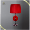 Wholesale Modern Design Simple Red Fabric Shade Table Lamp, Decorative Table Lamp for Home Hotel