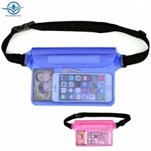 PVC Material Waterproof Waist Pouch Dry Bag For Outdoor Sports Adjustable Belt Waist Bag