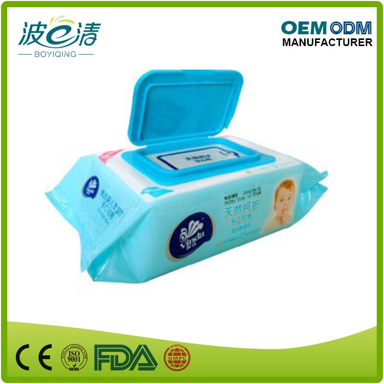 High Quality Disposable Soft Sanitary Care Flushable Baby Wipe