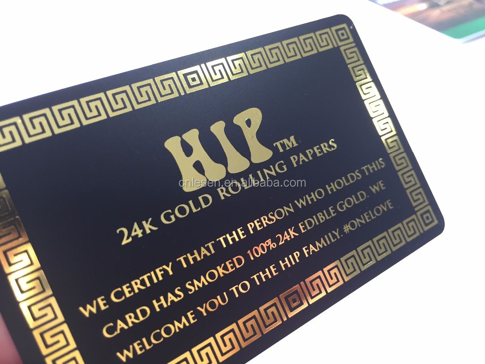 Black Luxury Business Name Card with Gold Hot-stamping