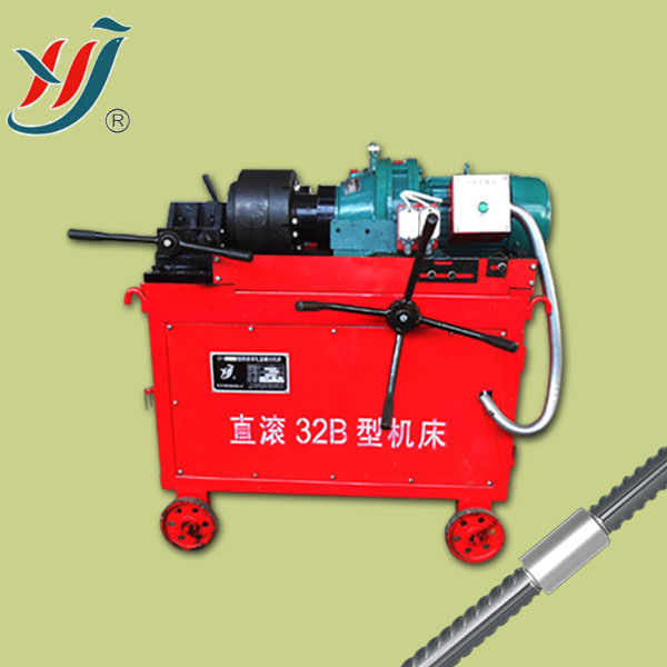 Building machinery, rebar portable pipe threading machine