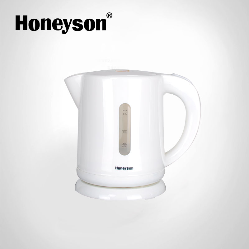 Honeyson new hotel low wattage white plastic electric kettle