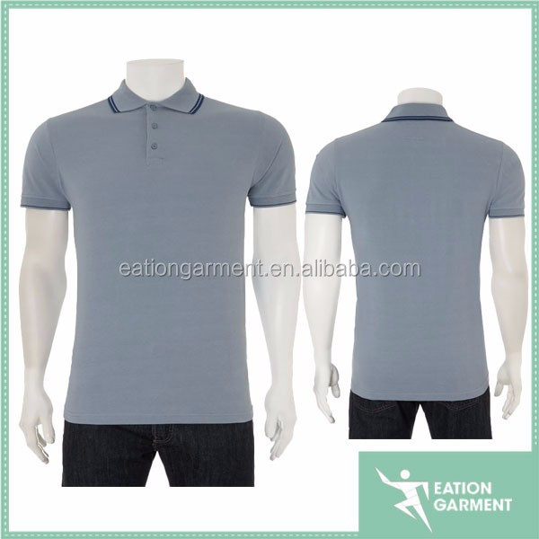 2017 gray custom polo and wholesale china design thirt for men