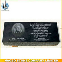 Haobo Stone Shanxi black granite polished USA style grave marker wholesale prices