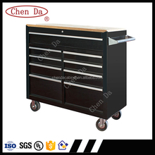 industrial black color 4 wheels tool box/tool cabinet with handle