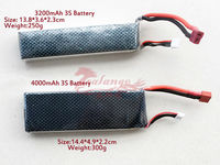 Newest Wholesales 3200mah 11.1V 40C Rechargeable Accu with 3 Cell Lipo Battery Pack for Rc Quadcopter By Salange