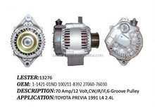 Alternator for NIPPONDENSO Lester 13276, 1-1421-01ND 100211-8392 27060-76030 FOR TOYOTA PREVIA