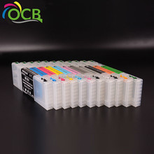 Ocbestjet 300ML/PC T6531-T6539 T653A T653B Empty Refillable Ink Cartridge With Permanent Chip For Epson Stylus PRO 4900 Printer
