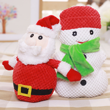 Customized Festival Christmas Pet Plush Toy Chew Squeeze Squeaky Sound Xmas Gift