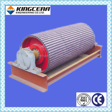 Belt conveyor rubber lagging pulley