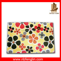 China wholesale yellow color flower printed cotton placemat