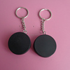 rubberized ice hockey puck keychain
