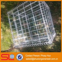 Stainless Steel square hole stone cage 500mmx500mmx500mm Gabion fence spiral