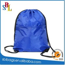 2015 simple colorful nylon drawstring backpacks, light weight backpacks for hiking