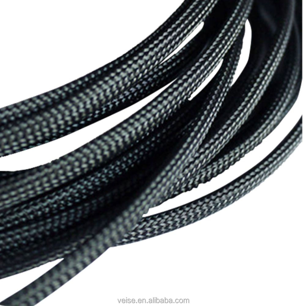 Braided PET Expandable Sleeving High Density Sheathing Cable Sleeve