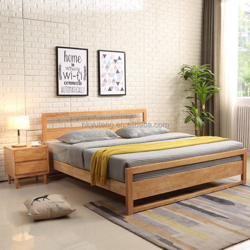 New Yuteng brand modern wood <strong>bed</strong> made in China