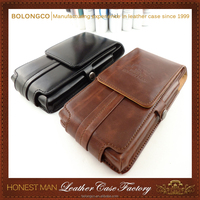 cell phone wallet bag with belt clip leather waist pouch case