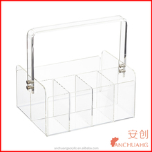5-Section Acrylic Tote/Storage Box with Handle