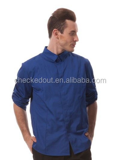 Hot waiter's fashion shirt of colourful with classic adjustable sleeves
