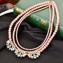 Latest design beads necklace, mother of pearl necklace in bulk