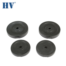 20kg concrete sand plastic calibrated weight plate with cement filled