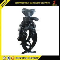 High Quality SUNYOO SYG04 Hydraulic Excavator Rotating Grapple Excavator Wood Grapple