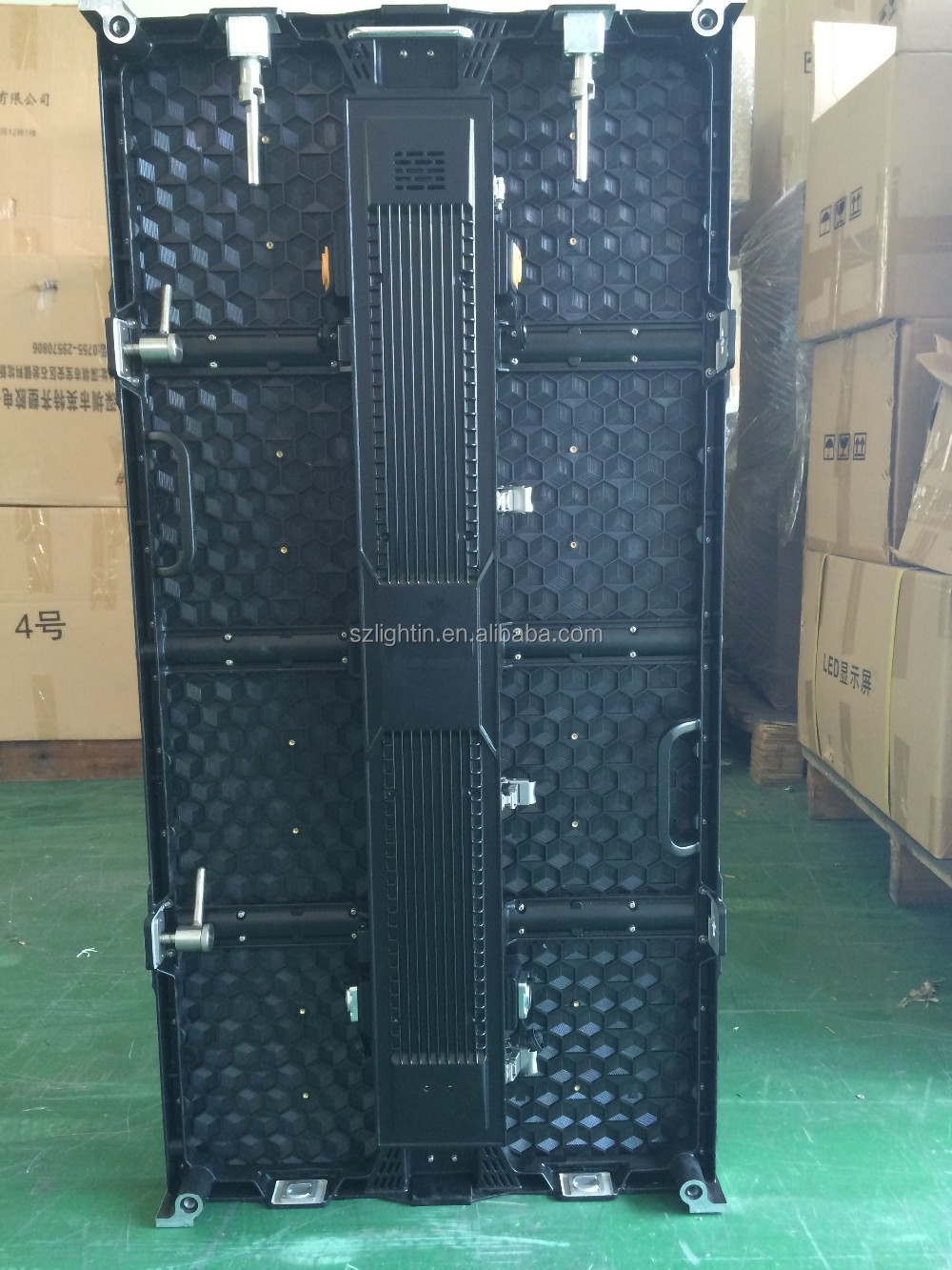 Outdoor advertising led display screen P4.81 500x1000mm die casting cabinet
