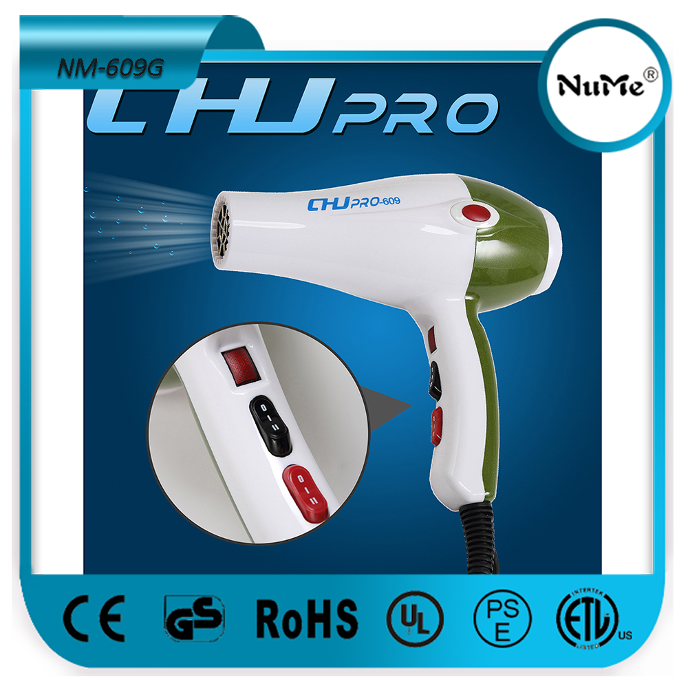 Professional Salon Hair Blower With Hot And Cold Wind Switch Modelling Function Blow Dryer NM-609G