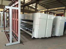 semi automatic corrugated paperboard printer and sloter machine