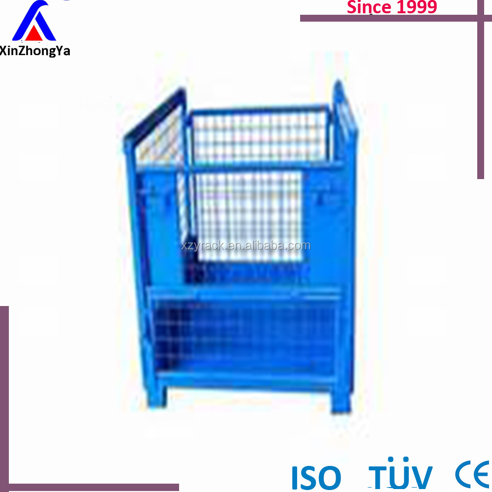 Industry galvanized wire mesh used steel folding storage cage