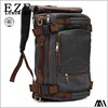 custom logo fashionable sports bag cheap brown big canvas backpack travel bucket duffle bag